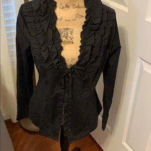 Rampage black button down shirt.